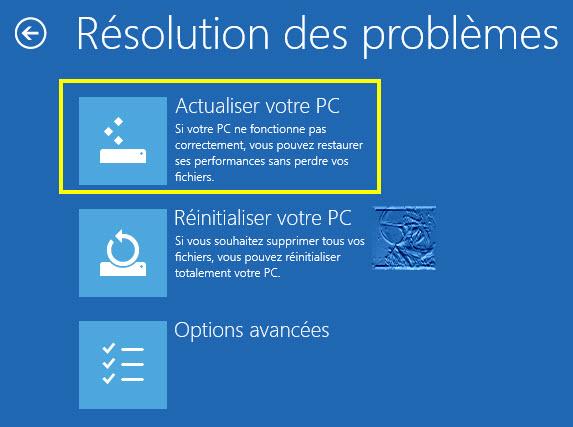 """""""Actualiser votre PC réinitialisera Windows sans perte de fichiers... ou presque."""